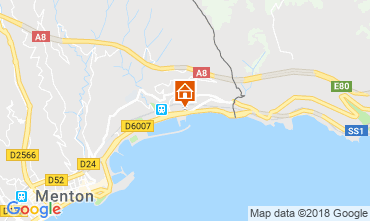 Mappa Menton (Mentone) Appartamento 59052