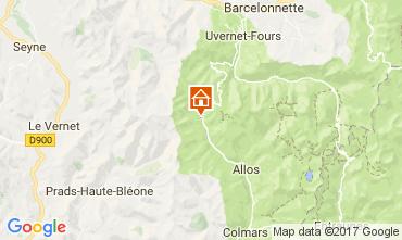Mappa Val d'Allos Appartamento 50706