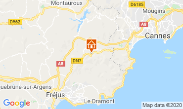 Mappa Mandelieu la Napoule Appartamento 73716