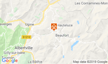Mappa Areches Beaufort Chalet 117764
