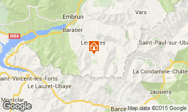 Mappa Les Orres Chalet 2091