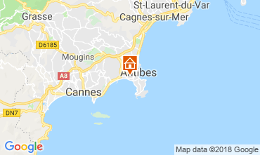 Mappa Juan les Pins Appartamento 115721