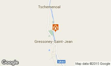Mappa Gressoney Saint Jean Appartamento 58532