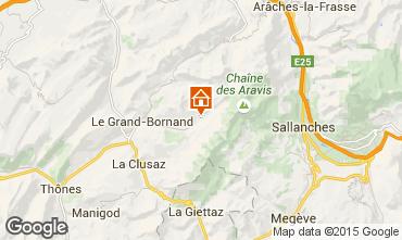 Mappa Le Grand Bornand Appartamento 1369