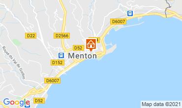 Mappa Menton (Mentone) Appartamento 101898