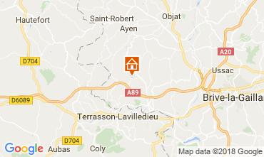 Mappa Brive-la-Gaillarde Agriturismo 113617