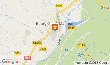 Mappa Bourg saint Maurice Monolocale 106038