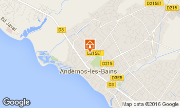 Mappa Andernos les Bains Casa 55736