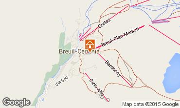 Mappa Cervinia (Breuil) Appartamento 28644