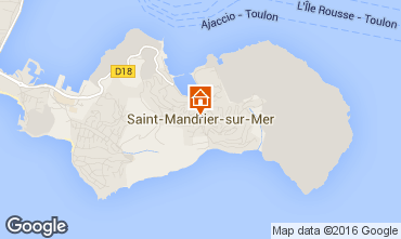 Mappa Saint Mandrier sur Mer Monolocale 11487