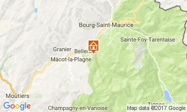 Mappa Montchavin les Coches Appartamento 112309