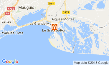 Mappa Le Grau du Roi Appartamento 114395