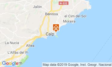 Mappa Calpe Appartamento 103401