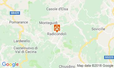 Mappa Radicondoli Casa 117378