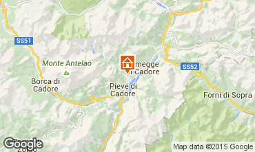 Mappa Cortina d'Ampezzo Appartamento 40563