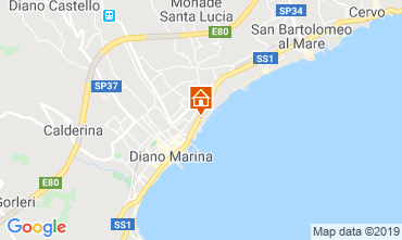 Mappa Diano Marina Appartamento 50004