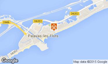 Mappa Palavas-les-Flots Appartamento 83188