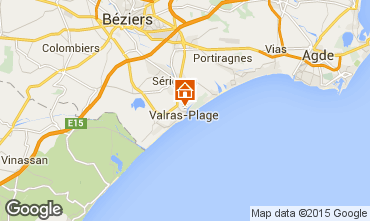 Mappa Valras-Plage Appartamento 69389