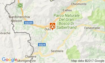 Mappa Sauze d'Oulx Appartamento 74041