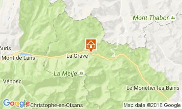 Mappa La Grave - La Meije Casa 4763