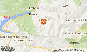 Mappa Les Orres Monolocale 2096
