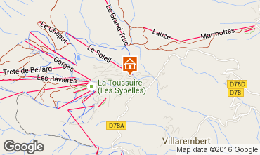 Mappa La Toussuire Appartamento 67158