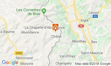 Mappa Châtel Chalet 117459