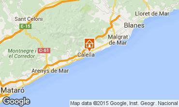 Mappa Calella de Mar Appartamento 8169