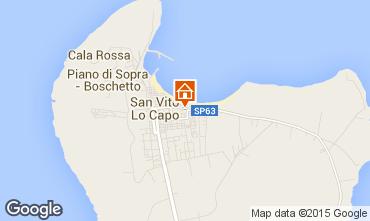 Mappa San Vito lo Capo Appartamento 65371