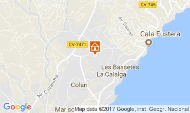 Mappa Calpe Villa  111838