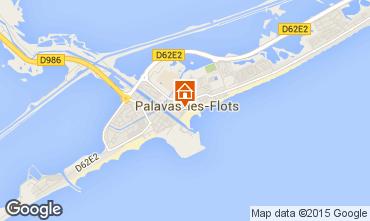 Mappa Palavas-les-Flots Monolocale 91980