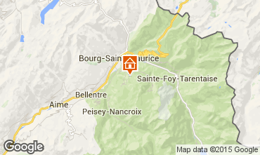 Mappa Les Arcs Appartamento 59156