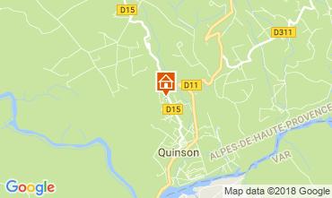 Mappa Sainte-Croix-du-Verdon Villa  114381