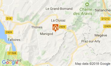 Mappa Manigod-Croix Fry/L'étale-Merdassier Appartamento 67225