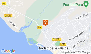 Mappa Andernos les Bains Agriturismo 81528
