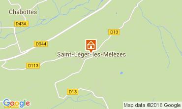 Mappa Saint Léger les Mélèzes Chalet 4835