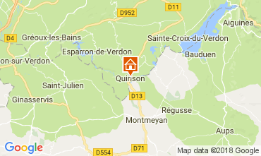 Mappa Sainte-Croix-du-Verdon Appartamento 65232