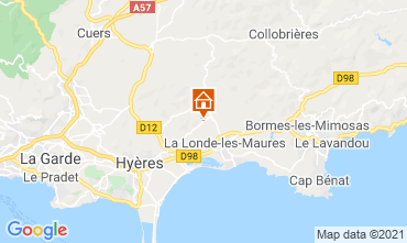 Mappa Bormes Les Mimosas Villa  51988