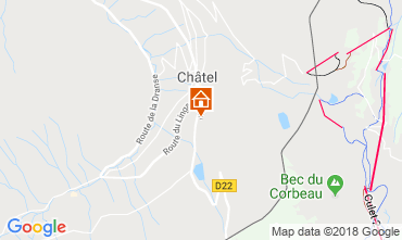 Mappa Châtel Chalet 73726