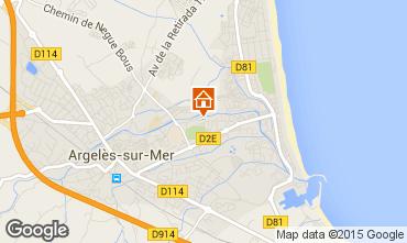 Mappa Argeles sur Mer Appartamento 69387