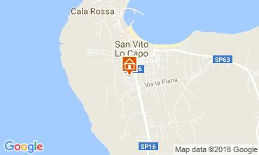 Mappa San Vito lo Capo Appartamento 62649