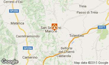 Mappa San Severino Marche Appartamento 72984