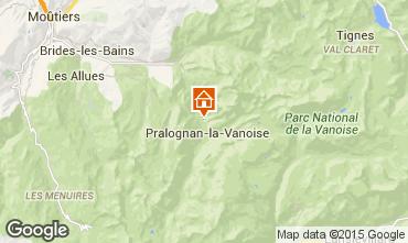 Mappa Pralognan la Vanoise Chalet 44318