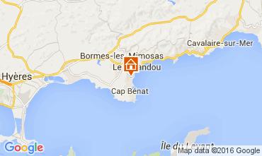 Mappa Bormes Les Mimosas Appartamento 10095
