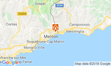 Mappa Menton (Mentone) Monolocale 117489