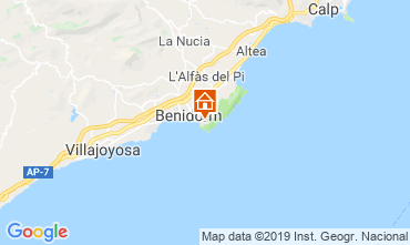 Mappa Benidorm Appartamento 102690