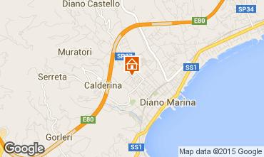 Mappa Diano Marina Appartamento 94203