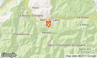 Mappa Les 2 Alpes Chalet 60919