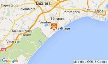 Mappa Valras-Plage Casa 103952