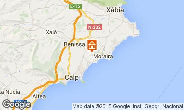 Mappa Moraira Villa  87365